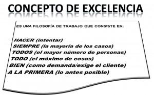Concepto de excelencia
