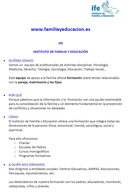 Instituto Familia y Educación