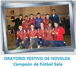 Galería de imágenes Oratorio Festivo de Novelda - Campeón de Fútbol Sala