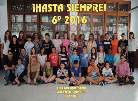 Destacada Colegio Diocesano Virgen del Rosario Alicante. ¡¡Hasta siempre 6º!!