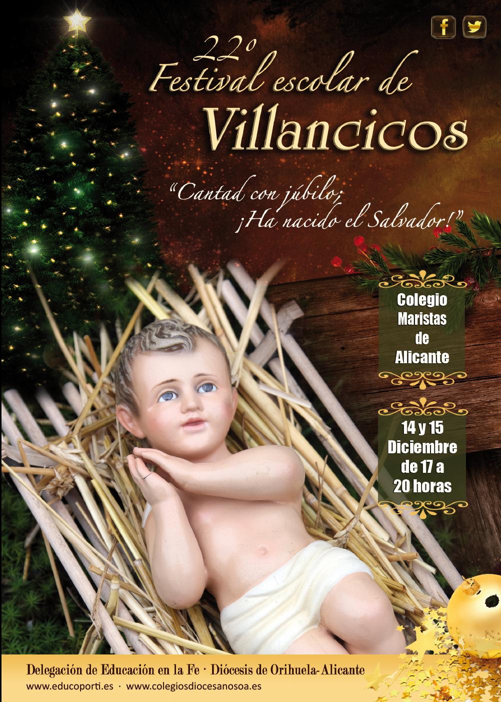 CARTEL XXII Festival Diocesano Escolar de Villancicos 2013