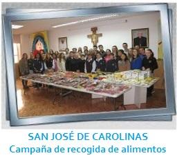 SAN JOSÉ DE CAROLINAS - Campaña solidaria de recogida de alimentos